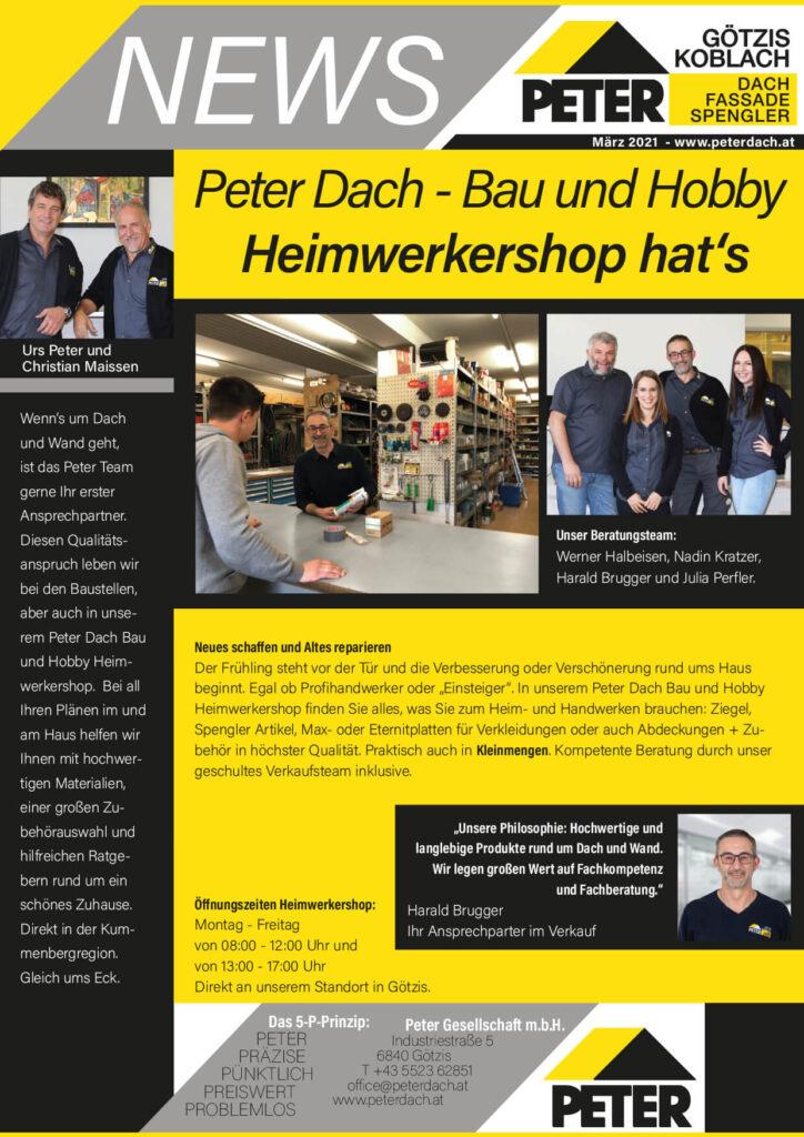 News März 2021, Peter Dach Vorarlberg Götzis, Fassade, Spenglerei, Dachdecker, Dachfenster, Rheintal