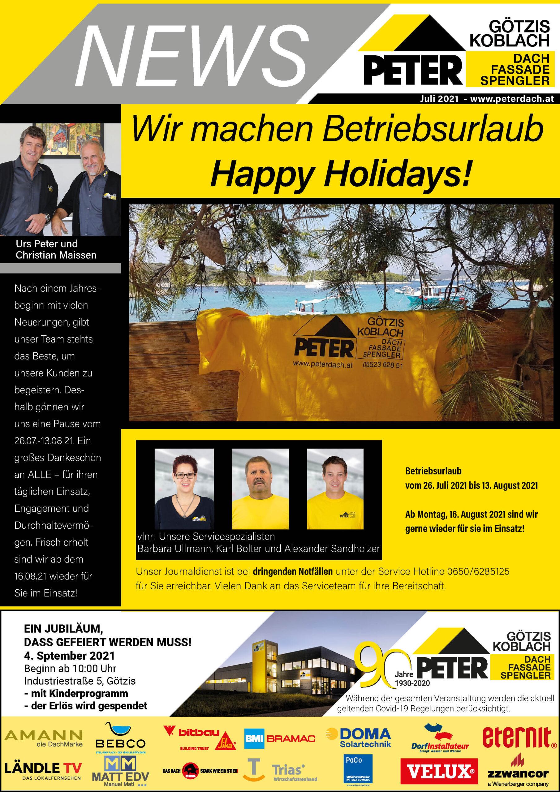 Peter News_Vorarlberg_Dachdecker_Spengler_Juli-2021